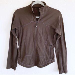 lululemon athletica Tops - Lululemon Brown Full Zip Jacket Sweatshirt